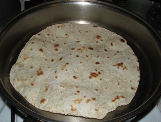 Tortilla Bubbling Up