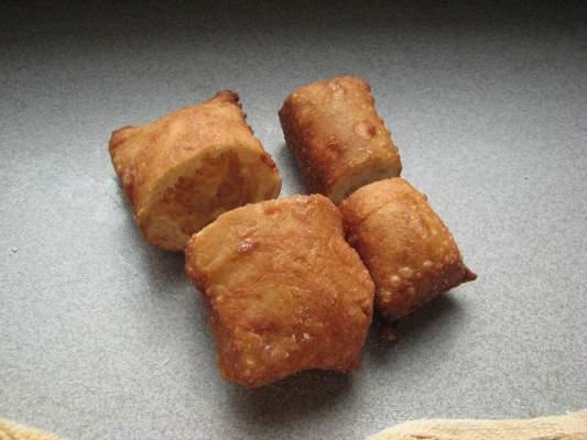 Two dough pieces