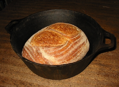bread in the pot