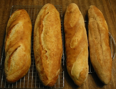 All four Vienna Loaves