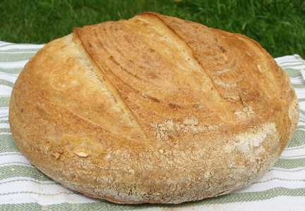 Basic White loaf with cracked wheat