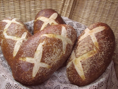 Pretzel Sourdough Bread