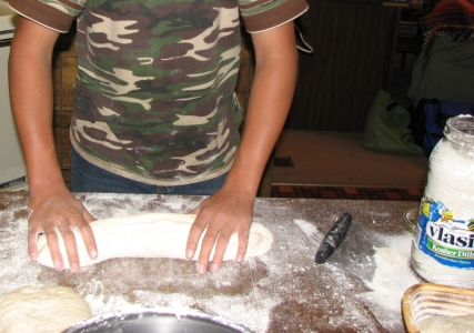 shaping dough